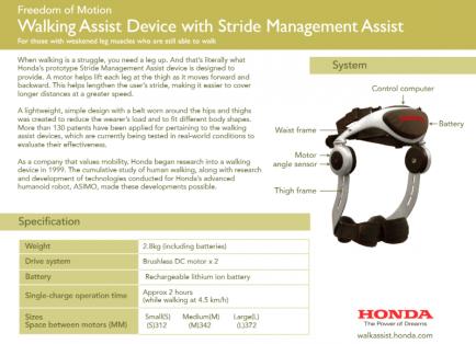 Honda annonce des exosquelettes pour la marche en location au Japon - walking-assist-device-e1438985690694