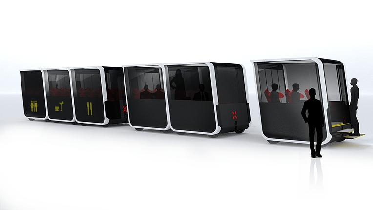 un système de transport intelligent basé sur des essaims de véhicules auto-conduits modulaires credit: Next