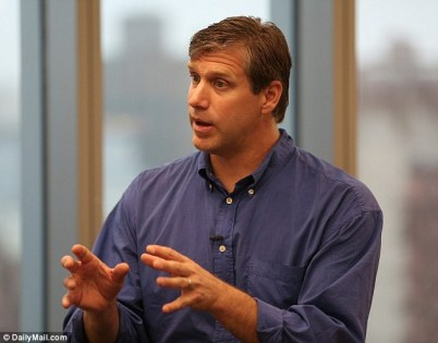 Officials from the US Navy met with US presidential candidate and 'transhumanist' Zoltan Istvan to discuss the 'merger of humans and machines'. Mr Zoltan (pictured) said they were keen to draw up policies about microchip implants that can be used to track and carry information inside the human body.